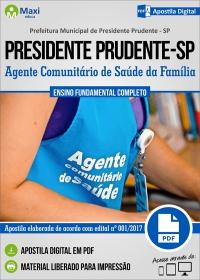 Agente Comunitário de Saúde da Família - Pref. de Presidente Prudente - SP
