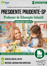 Professor de Educação Infantil - Prefeitura de Presidente Prudente - SP