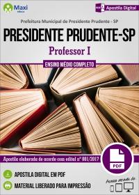 Professor I - Prefeitura de Presidente Prudente - SP