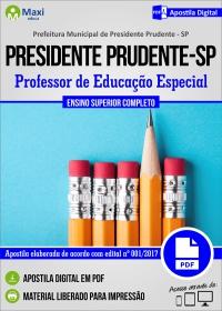 Professor de Educação Especial - Prefeitura de Presidente Prudente - SP