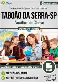 Auxiliar de Classe - Prefeitura de Taboão da Serra - SP