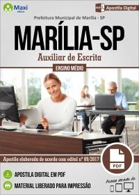 Auxiliar de Escrita - Prefeitura de Marília - SP