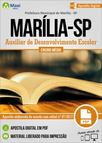Auxiliar de Desenvolvimento Escolar - Prefeitura de Marília - SP