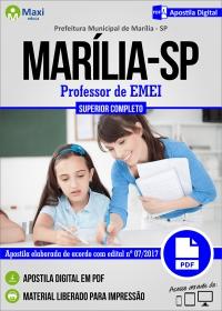 Professor de EMEI - Prefeitura de Marília - SP