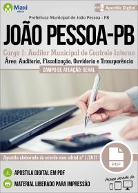 Cargo 1: Auditor Municipal de Controle Interno - Prefeitura de João Pessoa - PB