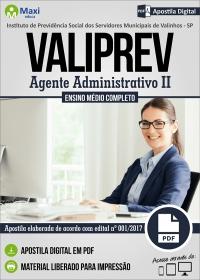 Agente Administrativo II - VALIPREV