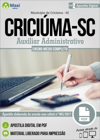 Auxiliar Administrativo - Prefeitura de Criciúma - SC