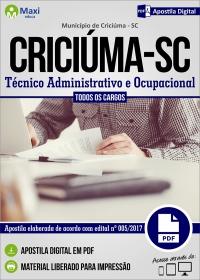 Técnico Administrativo e Ocupacional - Prefeitura de Criciúma - SC