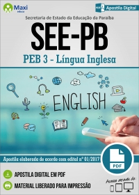 Professor de Educação Básica 3 - Língua Inglesa - SEE-PB