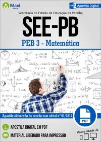 Professor de Educação Básica 3 - Matemática - SEE-PB