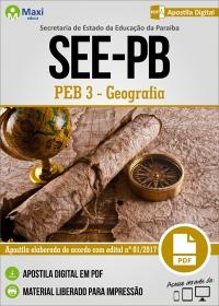 Professor de Educação Básica 3 - Geografia - SEE-PB