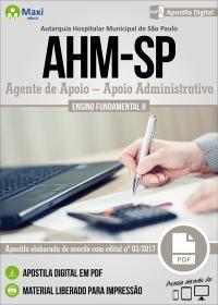 Agente de Apoio - Apoio Administrativo - AHM-SP
