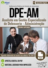 Analista em Gestão Especializado de Defensoria - Administração - DPE-AM