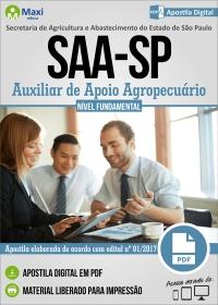 Auxiliar de Apoio Agropecuário - SAA-SP