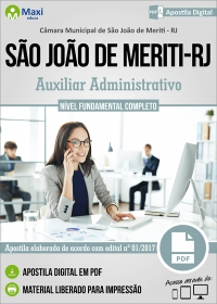 Auxiliar Administrativo - Câmara de São João de Meriti - RJ