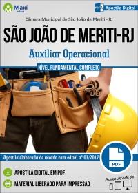 Auxiliar Operacional - Câmara de São João de Meriti - RJ