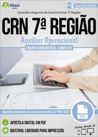Auxiliar Operacional - CRN 7ª Região