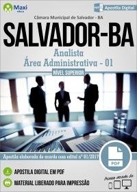 Analista - Área Administrativa - 01 - Câmara de Salvador - BA