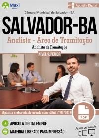 Analista - Área de Tramitação (Analista de Tramitação) - Câmara de Salvador - BA