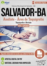 Analista - Área de Taquigrafia - Câmara de Salvador - BA