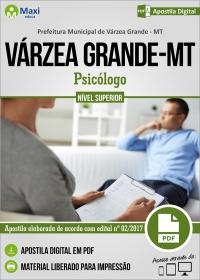 Profissional de Nível Superior do SUS - Psicólogo - Pref. de Várzea Grande - MT