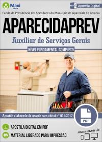 Auxiliar de Serviços Gerais - APARECIDAPREV