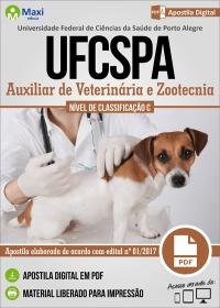 Auxiliar de Veterinária e Zootecnia - UFCSPA