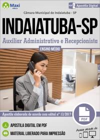 Auxiliar Administrativo e Recepcionista - Câmara de Indaiatuba - SP