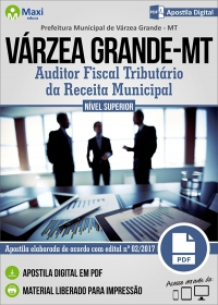 Auditor Fiscal Trib. da Receita Municipal - Prefeitura de Várzea Grande - MT
