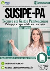 Técnico em Gestão Penitenciária - Pedagogo - SUSIPE-PA