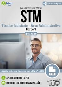 Cargo 9: Técnico Judiciário - Área Administrativa - STM