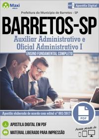 Auxiliar Administrativo e Oficial Administrativo I - Pref. de Barretos - SP
