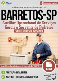 Auxiliar Op. de Serv. Gerais e Servente de Pedreiro - Pref. de Barretos - SP