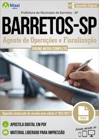 Agente de Operações e Fiscalização - Prefeitura de Barretos - SP