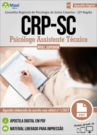 Psicólogo Assistente Técnico - CRP - 12ª Região - SC