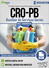 Auxiliar de Serviços Gerais - CRO-PB