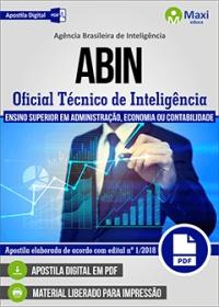 Cargo 2: Oficial Técnico de Inteligência - Área 1 - ABIN