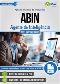 Cargo 3: Agente de Inteligência - ABIN
