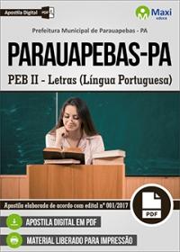 Professor - PEB II - Língua Portuguesa - Prefeitura de Parauapebas - PA