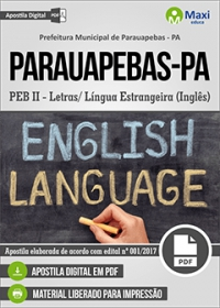 Professor - PEB II - Inglês - Prefeitura de Parauapebas - PA