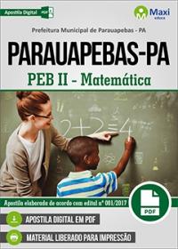 Professor - PEB II - Matemática - Prefeitura de Parauapebas - PA
