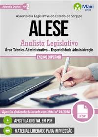 Analista Legislativo - Área Técnico-Administrativo - Administração - ALESE