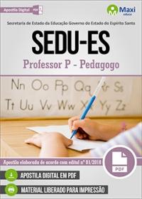 Professor P - Pedagogo - SEDU-ES