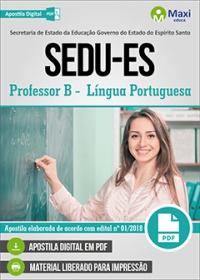 Professor B - Língua Portuguesa - SEDU-ES