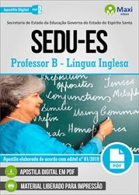 Professor B - Língua Inglesa - SEDU-ES