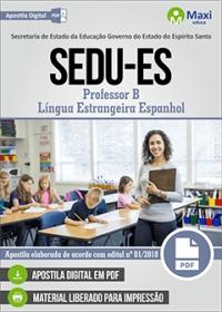 Professor B - Língua Estrangeira Espanhol - SEDU-ES