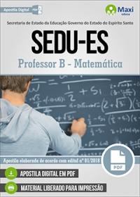 Professor B - Matemática - SEDU-ES