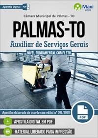 Auxiliar de Serviços Gerais - Câmara de Palmas - TO