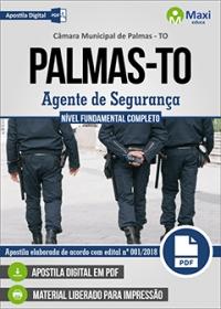 Agente de Segurança - Câmara de Palmas - TO