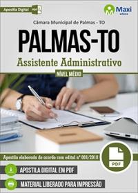 Assistente Administrativo - Câmara de Palmas - TO